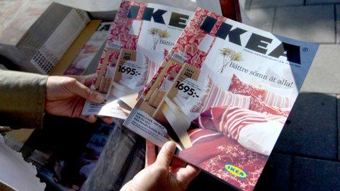 SLUTT PÅ KATALOG: Nå vil du ikke lenger kunne lese Ikeas produktkatalog i papirform. Arkivfoto.  Foto: David Magnusson (NTB)