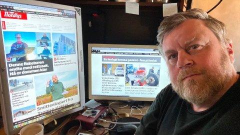 MYE Å LESE: Lp-journalist Lars Bryne har tilgang til alle avisene i Amedia. Det har også alle Laagendalspostens abonnenter ut april måned!