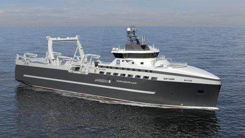 KRILL: Kongsberg Martitime skal bidra til det nye krillskipet. Her står bærekraft i fokus.