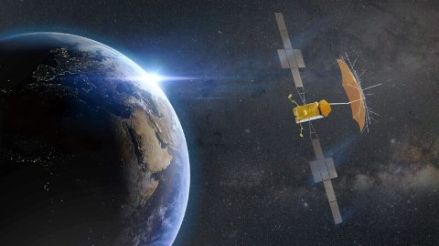 THURAYA 4: Dette er satellitten som Kongsberg Gruppen skal levere teknologi til.