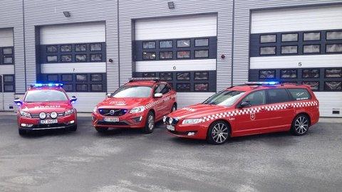 ØVER PÅ UTRYKNINGER: Slik ser bilene ut, som Kongsberg brann og redning disponerer til øvelseskjøring.