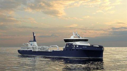 Brønnbåt: Kongsberg Maritime har designet denne båten for Sølvtrans.