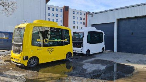 NY BUSS: En ny og smartere buss testes ut i Kongsberg i disse dager.