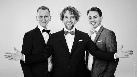 KOMMER: Nordic Tenors kommer til Kongsberg musikkteater fredag 11. juni.