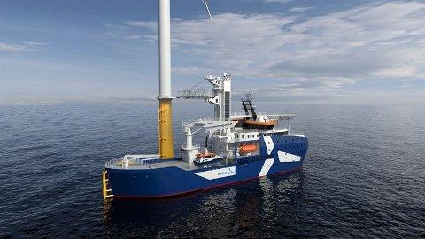 NY KONTRAKT: Skipene har et nytt skrogdesign som bygger på forsknings- og utviklingsarbeid hos Kongsberg Maritime.