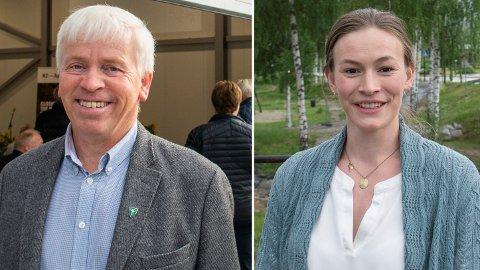 VIL IKKE UTELUKKE: Verken Flesberg-ordfører Oddvar Garaas eller Rollag-ordfører Viel Jaren Heitmann vil helt utelukke en regjering sammen med SV.