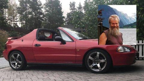 SKADET: På tur til Sandefjord var Even Åmot uheldig å skadet bilen. Nå mener han at det er kommunen som må rydde opp