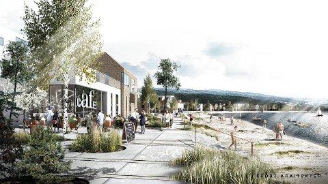 FORSLAG: Dette er et av forslagene som har kommet om hvordan Fjordbyen skal se ut. Flere forslag ligger i egen bildeserie.