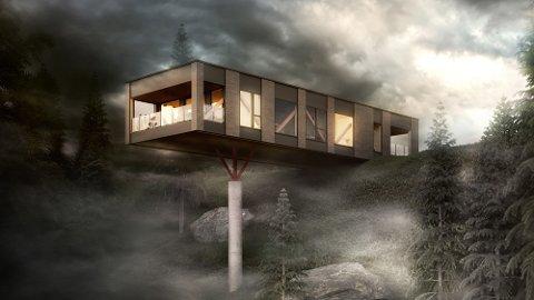 Inspirasjon: Arkitekten som jobber med boligprosjektet på Øvre Justad har blant annet hentet inspirasjon fra hustypen Moment, tegnet av arkitekt John Birger Grytdal for Norgeshus.