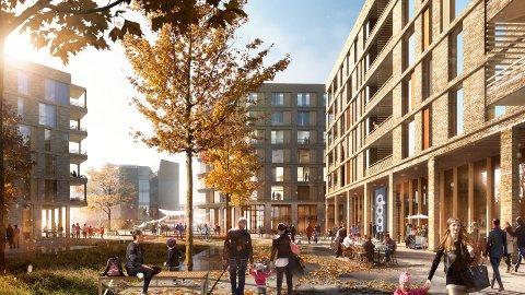NYE PLANER: Arkitektene ser for seg å utvikle Obs-tomta rundt en ny og moderne butikk.