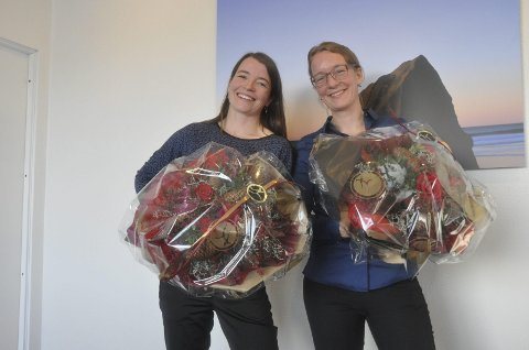 Gründere: Kriss Rokkan Iversen og Kjersti Eline Tønnesen Busch fikk pris for årets gründerkvinne(r). Foto: Bjarne Benjaminsen