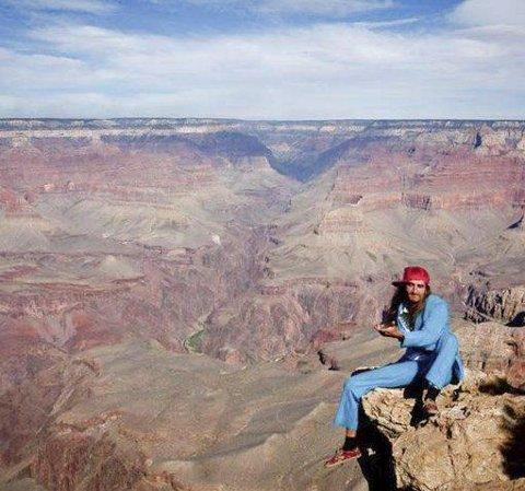 USA: Matias Carlsen i Grand Canyon. Det er ikke bare i Lofoten man kan skryte av god utsikt...
