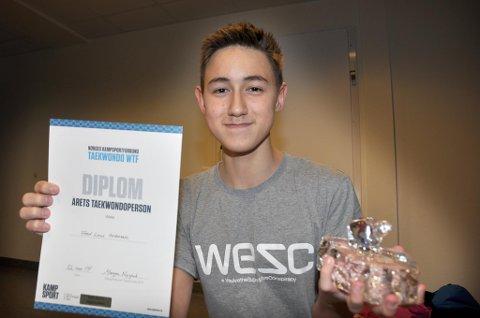 Fred-Levi Andersen fra Svolvær er utropt til Årets Taekwondoperson av Norsk kampsportforbund.