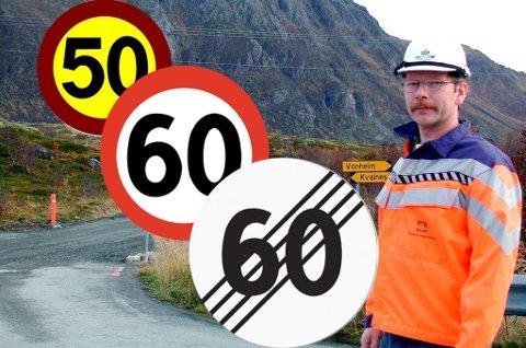 John Roger Sørvang i Statens Vegvesen i Lofoten sier fartsskilt kan dukke opp på gavebordet ved runde dager.