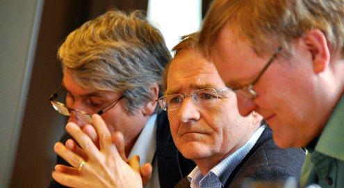 Topper: Helsetopper i nord; administrerende direktør Paul Martin Strand i Nordlandssykehuset, direktør Lars Vorland i Helse Nord RHF og t.h. fagdirektør Jan Norum i Helse Nord.