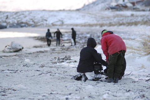 Opptak: Et apparat på 17 stykker utgjør filmteamet som filmer i Lofoten denne uka.