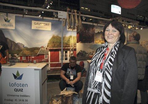 HEKTISK: Det var travle dager for Elisabeth Dreyer på reiselivsmessa.