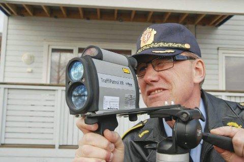 FART: UP-leder Knut Danielsen i Nordland sier man i år skal øke antall fartskontroller, samt doble antall ruskontroller.  Arkivfoto