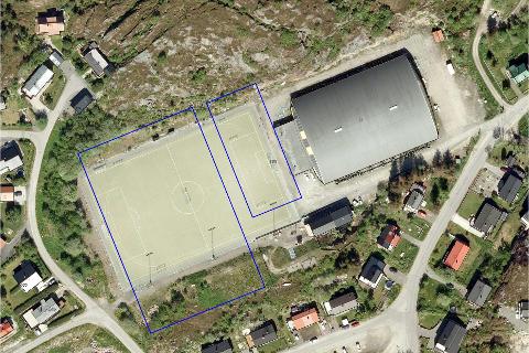 Her: Squashbaner i Vaagar idrettspark er et ønske. Illustrasjon: Privat