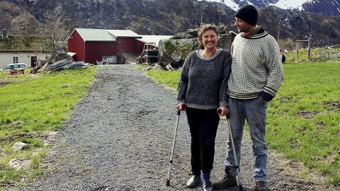 Spennende planer: Marielle de Roos og Hugo Vink gleder seg til de nye planene for gården settes i gang.