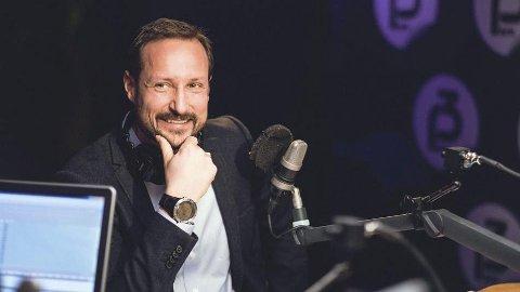 Lofotvenn: En kongelige gjest drømmer om å komme tilbake. Kronprins Haakon i NRK P3 onsdag morgen. Mattis Folkestad/NRK P3