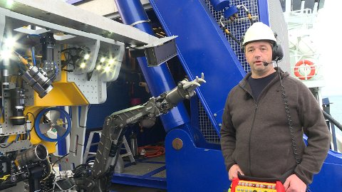 Stig Vågenes er ROV-manager og har ansvar for undervannsroboten Ægir