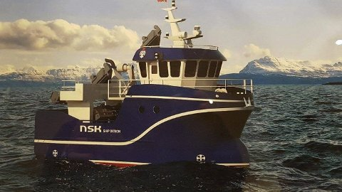 Nybåten: Dette er slik nybåten til vel 15 millioner skal bli, som leveres i november i år til Svolvær-rederne fra Grovfjord Skipsbyggeri. Foto: NSK ship design