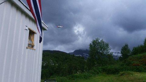 Politiet satte inn helikopter i søket etter biltyvene som forsvant til Gildeskål.