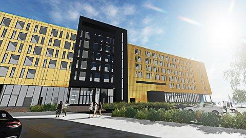 2021: Hotellet skal etter planen stå klart i mars 2021, men arkitektene har nå søkt om endring av rammetillatelsen for bygget.