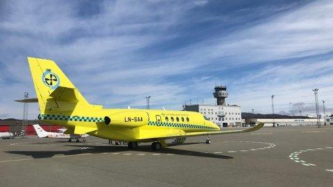 Dette er et av jetflyene som Babcock har leid inn for å ivareta beredskapen når man bruker andre fly i opplæringen av nytt personell. De kan ikke brukes på kortbanene.