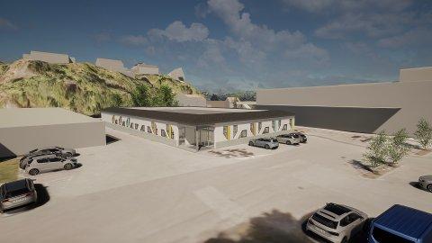Nytt: Slik skal den nye fløya ved Aust-Lofoten videregående skole se ut.