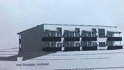 NYTT: Dette er første byggetrinn som består av åtte leiligheter med parkering i kjelleren.
