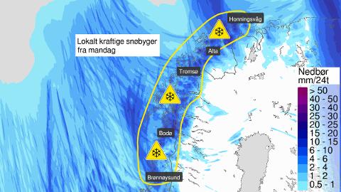 SNØ: Får meteorologene rett kan det bli mye snø i Lofoten de neste dagene.