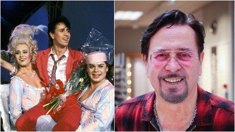 DA OG NÅ: Ketil Stokkan og Great Garlic Girls feirer seier i den norske nasjonale finalen i 1986. Til høyre en 35 år eldre Ketil Stokkan som er klar for comeback.
