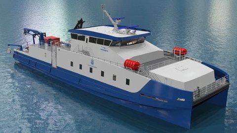 STOR: Den nye båter blir 39 meter lang og får en toppfart på 33 knop.