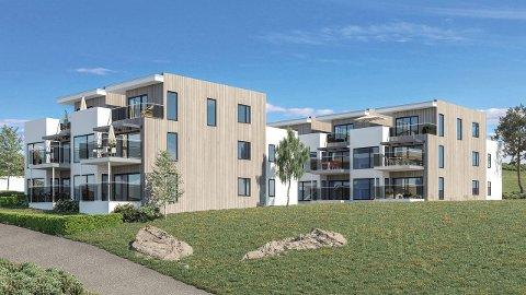 SOLGT: Tre av ti leiligheter i Bedehusbakken 9 er nå solgt. Den dyreste leiligheten er solgt for nærmere 6,8 millioner kroner.
