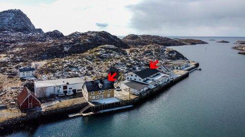 SELGES: Anlegget som brukes som base for fisketurisme er nå lagt ut for salg.