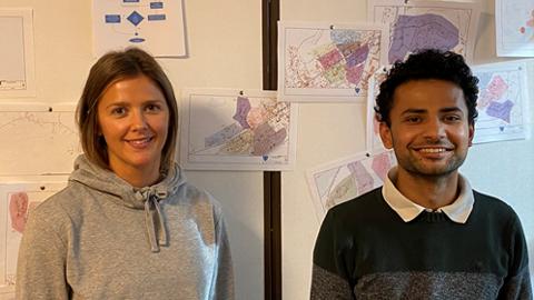Prosjektlederne Nora Marthinussen og Pranab Dhakal skal lede prosjektet på Leknes, Fygle og Gravdal.