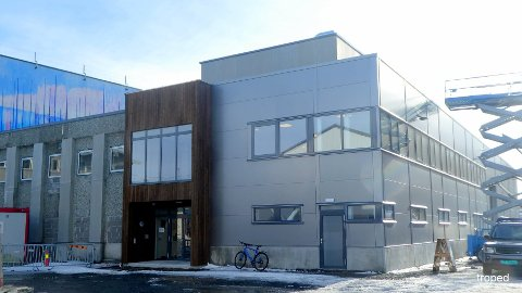 Slik ser den nye fasaden ut hos Ballstad Slips lokaler.