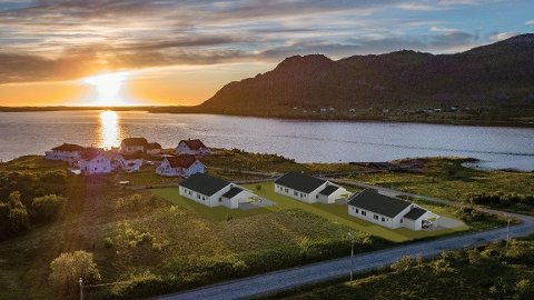 Her på Folkneset driver Robert Halvorsen og Roy Ingebrigtsen med salg av leiligheter.