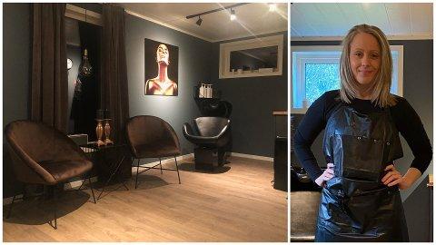 Anniken Geirsdatter i frisørlokalene på Ballstad.