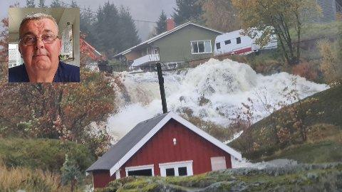 Vannmassene er store i Nusfjord.