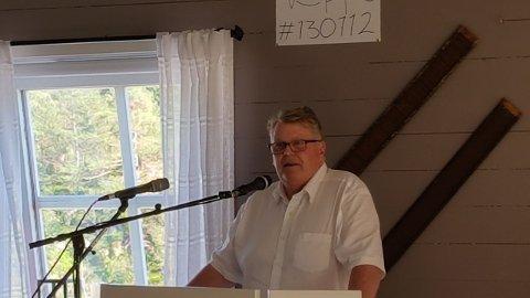 MED ISRAEL FOR FRED: Leder av Med Israel for fred på Stortinget, Hans Fredrik Grøvan holdt foredrag på Undeland fredag.