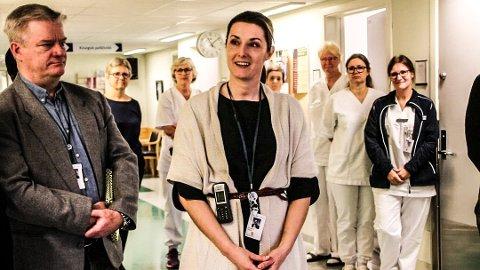 INGEN SPREDNING: Stedfortredende klinikkdirektør ved Sørlandet Sykehus Flekkefjord, Elisabeth Urstad, kan konstatere at inge andre er koronasmittet etter at det ble påvist smitte hos en vikar.