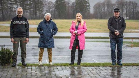 MØTTES I LYNGDAL: Finn Åge Olsen, Margret Annie Gudbergsdottir, Åse Vegge og Svein Are Auestad er alle feiloperert av den samme legen.
