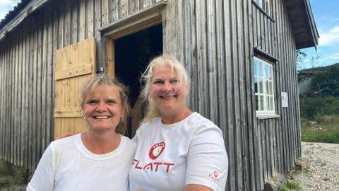 UNIK OPPLEVELSE: Solveig Strisland og Signe Helene Sommerro fikk en unik opplevelse da de overnattet i Husmannsstua.