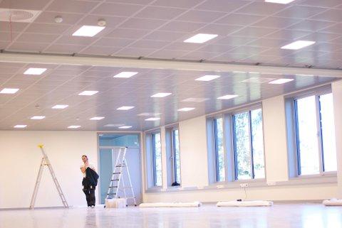 Mye plass og mye lys i den nye basen til Abel.