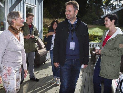 Fornøyde: Berit Kjærnes, Bjarne Laastad fra TV2 og artisten Lene Nystrøm.