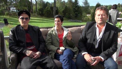 SJEKKET INN: OnklP, Lene Nystrøm og Bjarne Brøndbo er blant artistene som møttes på gården i sommer.