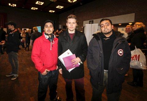 På let: Mustafa Christoffer Hagen og Mohamed Boussakra er villig til å gjøre det meste for å få jobb.